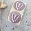 Thumbnail: Sticker mit Herz in Weiß