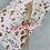 Thumbnail: Geschenkpapier  50x300cm Kraftpapier Blumen braun Gold