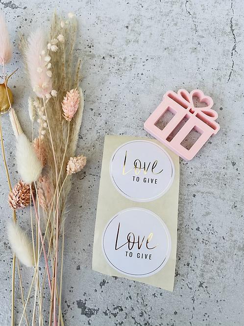 Sticker •Love to Give• 10 Stk.