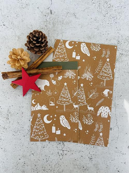 Papier Taschen  •Winterwald• 10 Stk
