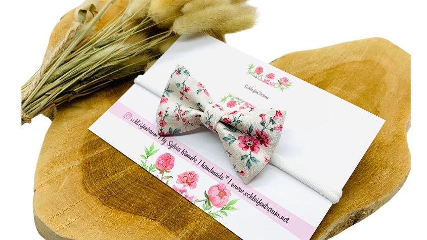 Haarband mit Schleife Blumen