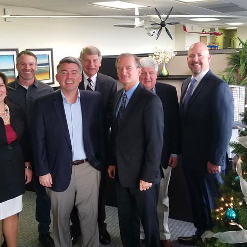 Senator Cory Gardner visits Bye Aerospace