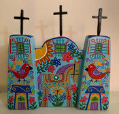 Folkart Church 8-1/2 x 14""