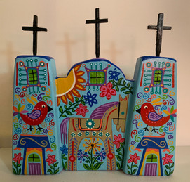 "Folkart Church 8-1/2 x 14"""