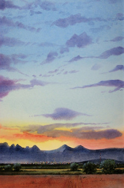 """Dawn Over the Mesilla Valley"""