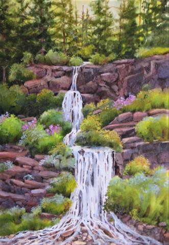An Oregon waterfall