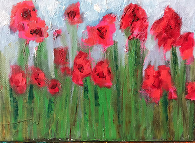 Red Flowers in Abstract