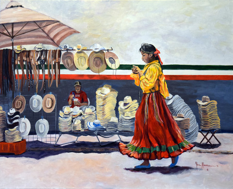 Indian Girl with Many Hats