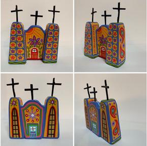"Folkart Church 6 x 5"""