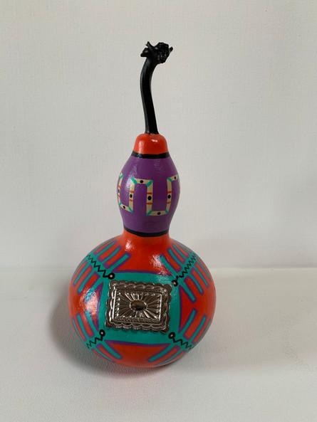 """Silver Concha Gourd 10 X 5"""""""