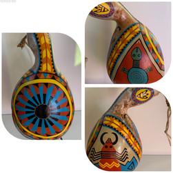 "Petroglyph Family Gourd 11 x 7"""