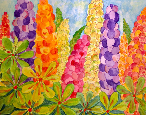 """""""Lupines Along the Road"""""""