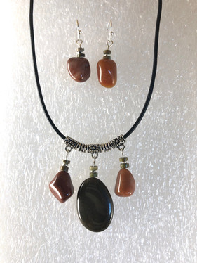 Necklace N214 and Earrings