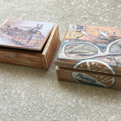 Custom Art on Wood Cigar Boxes