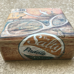Custom Art on Wood Cigar Box