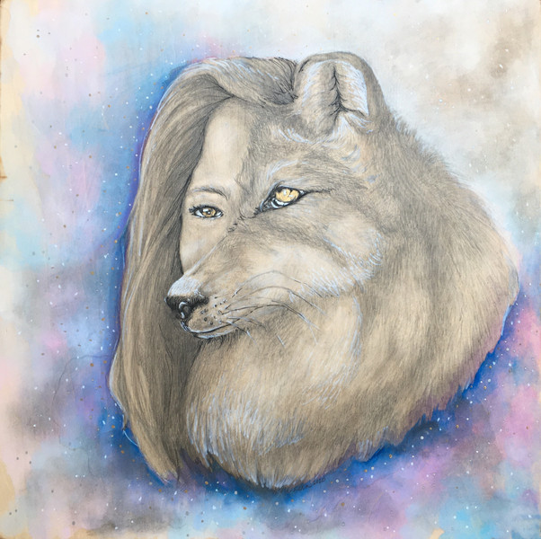 Custom Portrait - Mixed Media on Wood