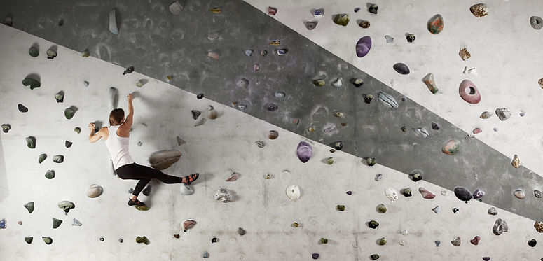 Athletic Woman Climbing