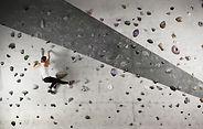 Femme Mur d'escalade