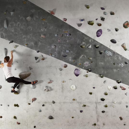 Žena Wall Climbing