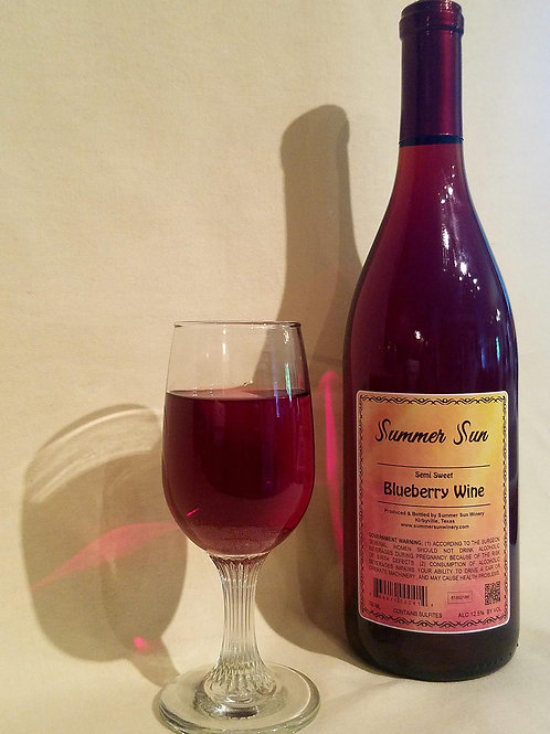 Semi Sweet Blueberry Wine