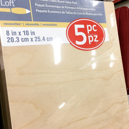 Wood canvases......Oh my!