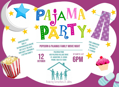 Popcorn & Pajamas Family Movie Night