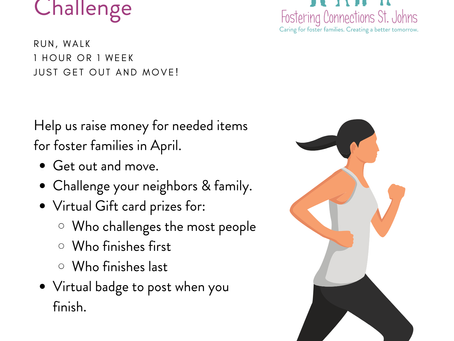 Fostering Connections St. Johns $5 Virtual 5K Challenge