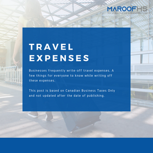 Travel Expenses - Canada Business Taxes