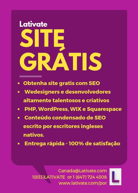 Site Gratis - Lativate -Melhor agência de marketing digital em Toronto