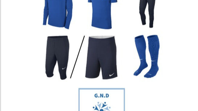 GND Football Academy full kit
