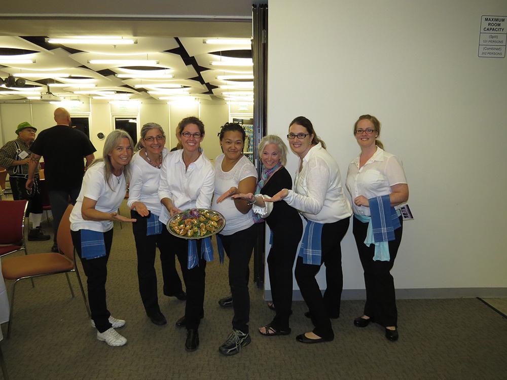 Volunteers Showing Appetizer Plate
