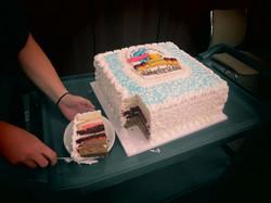 Inside the GIANT cake!