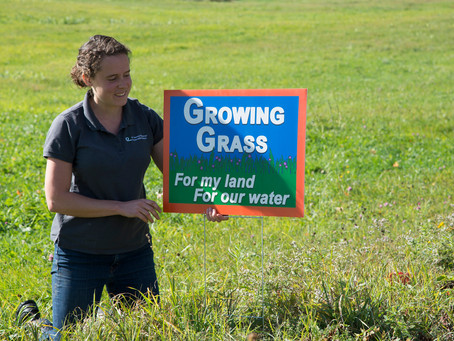 Roadside signs highlight farmers' leadership on water quality
