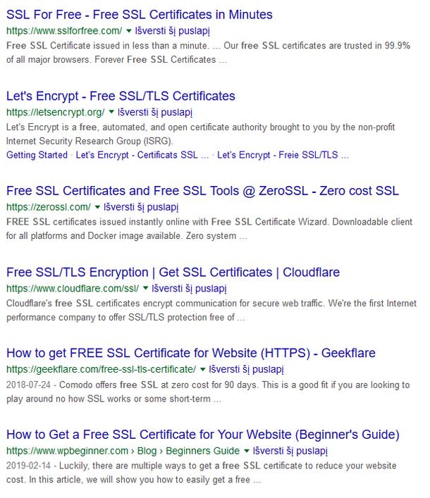 HTTPS, privatumas ir saugumas – kaip elgtis vartotojams ir kaip tai atsiliepia saugumo kultūrai orga