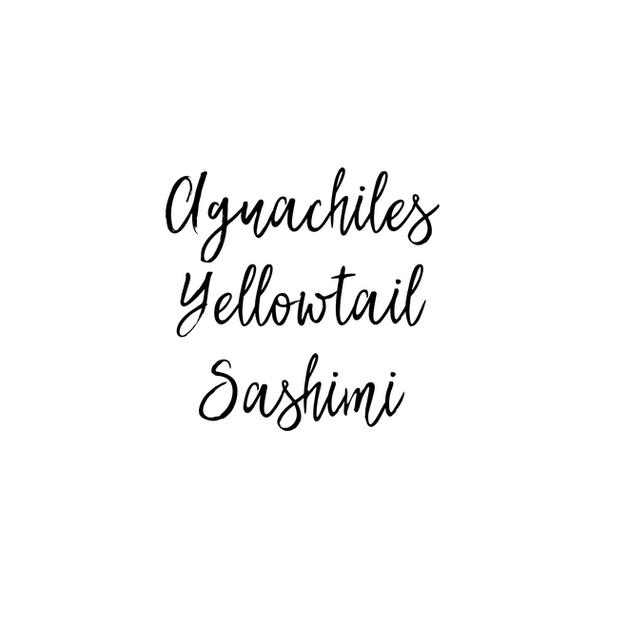 Aguachiles Yellowtail Sashimi $18.85