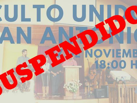 Se suspende Visita a San Antonio