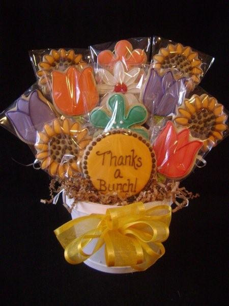 Show Your Appreciation And Say Thanks With Our Yummy Cookies Almost Too Pretty To Eat Are Hand Made Soft Cake Like Creamy Vanilla