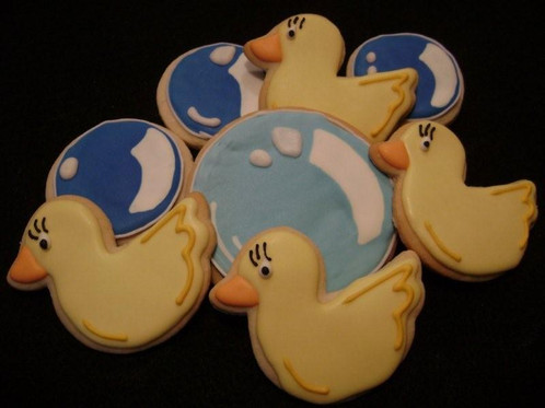 BABY DUCKS & BUBBLES COOKIE BOUQUET | Custom decorated cookies by ...