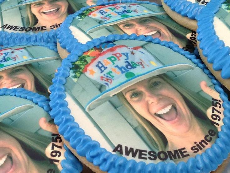 Custom decorated digital photo cookies