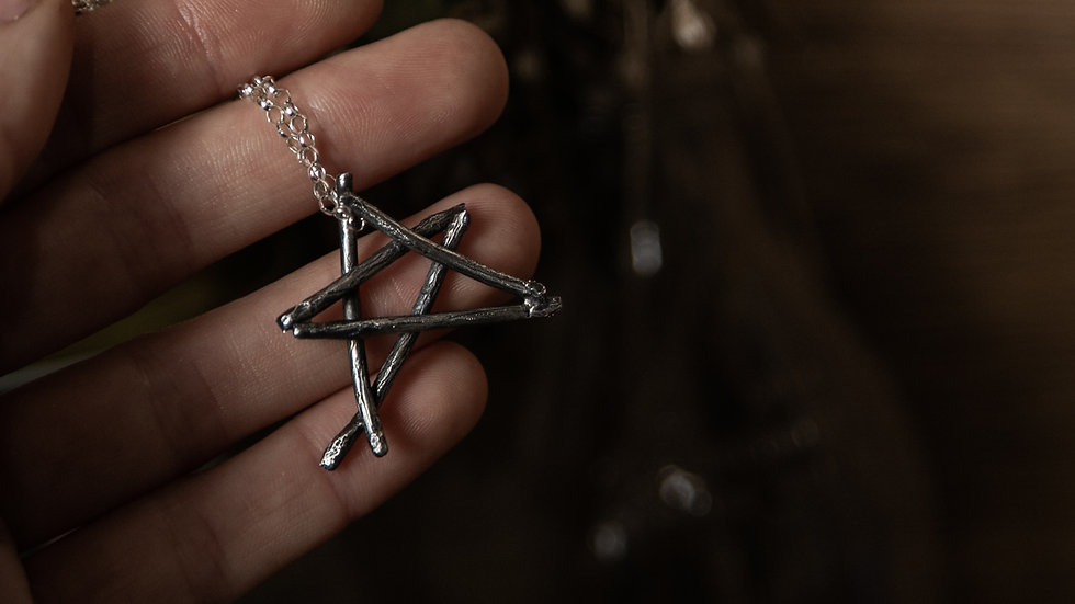 Silver Twig Pentagram (Pre-Order)