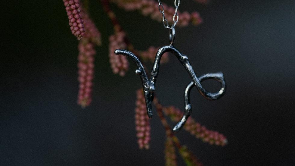 Capricorn Zodiac Twig Necklace