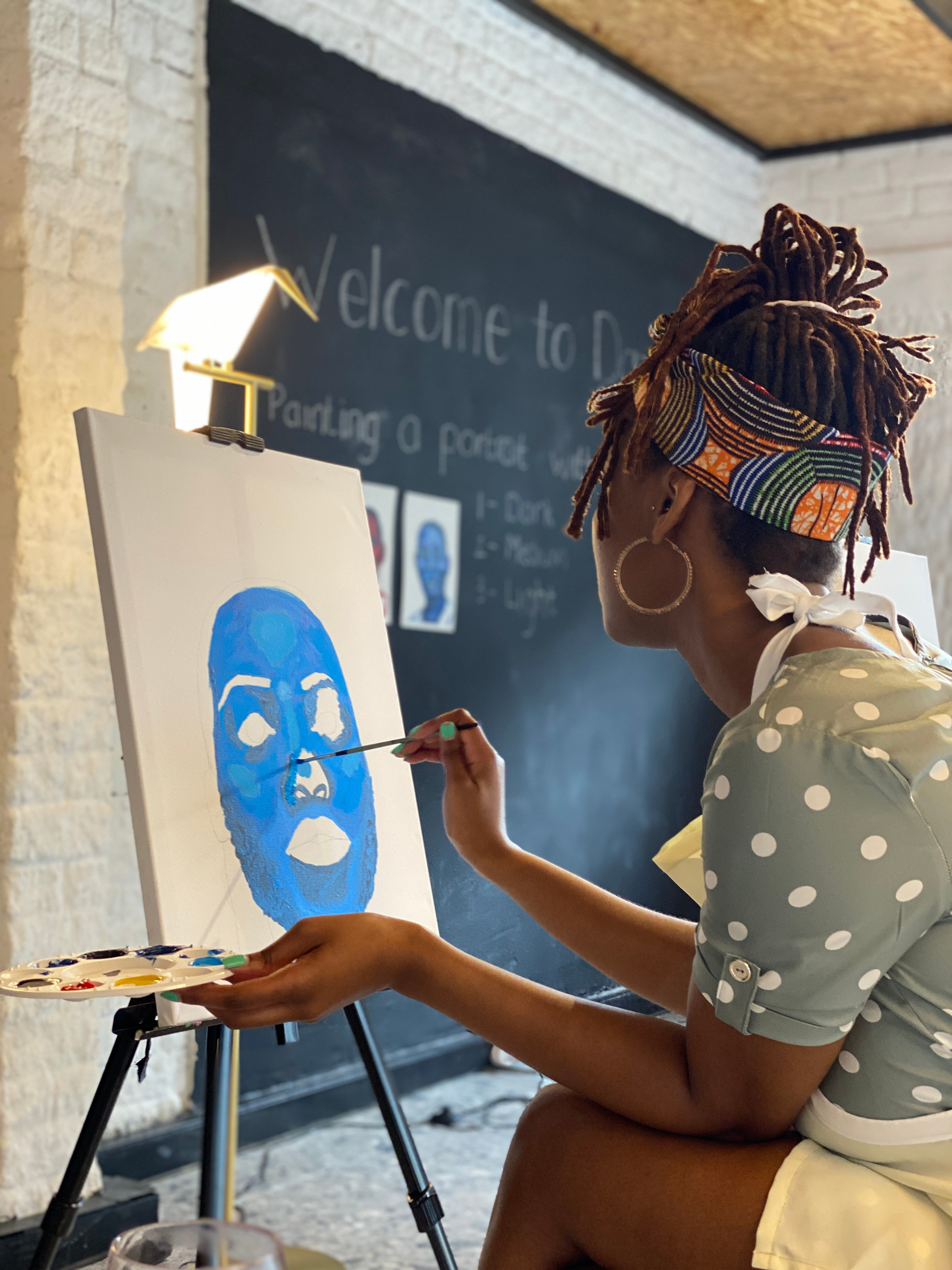 Paint and Sip experience