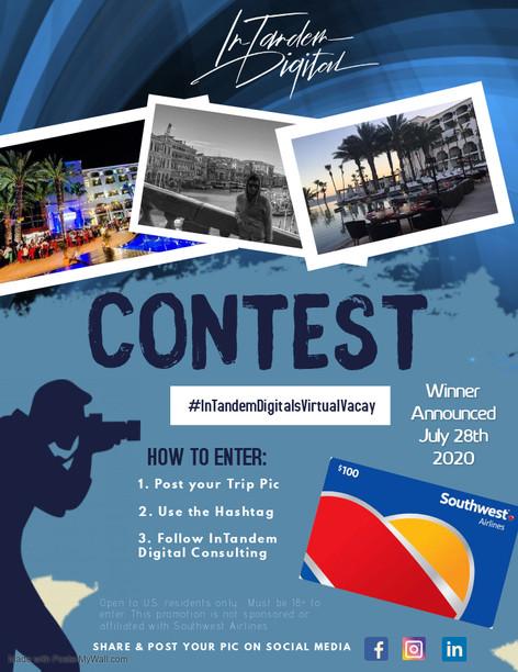 InTandem Digital's Virtual Vacay Contest