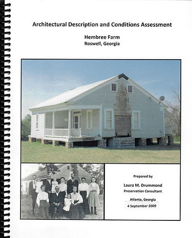 Resource guide and paphlet of Roswell architecture description and hembree farm preservation
