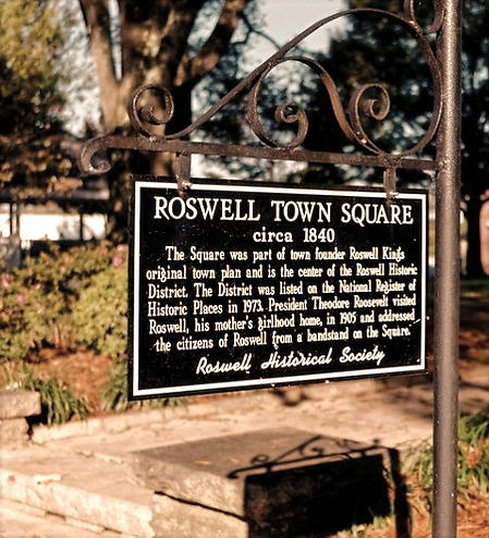Roswell Town Square Historical Marker
