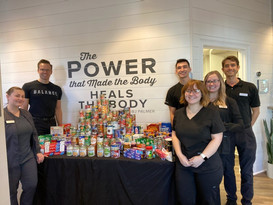 Alpha Spine Center Canned Food Drive