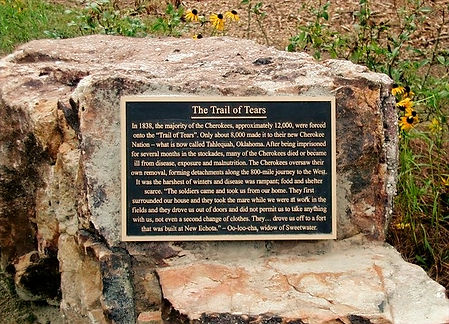 Trail of tear Roswell Historical Marker