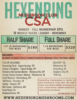 Hexenring Mushrooms CSA flyer