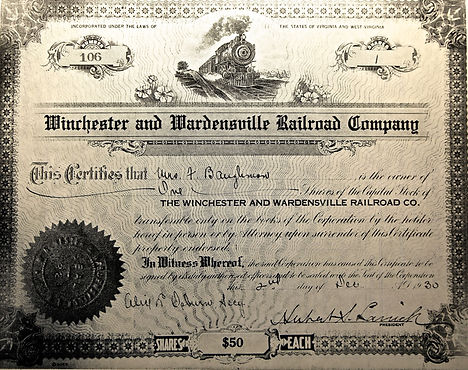 Winchester and Wardensville Railroad Company