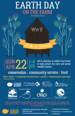 Earth Day on the Farm poster